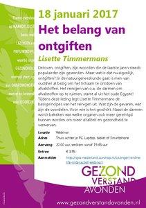Webcast Lisette Timmermans - Het belang van ontgiften